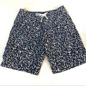 "Abercombie Board Shorts 9"" Blue Floral - 31"